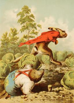 Le lièvre et le hérisson -1. Source : http://data.abuledu.org/URI/513bb47d-le-lievre-et-le-herisson-1