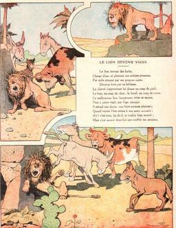Le lion devenu vieux. Source : http://data.abuledu.org/URI/5197f5ae-le-lion-devenu-vieux