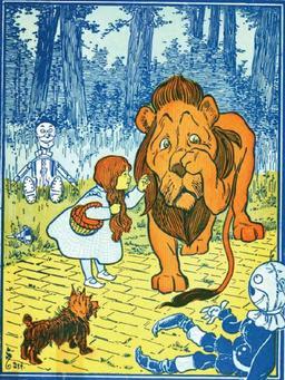 Le lion et l'épouvantail. Source : http://data.abuledu.org/URI/520a5d0e-le-lion-et-l-epouvantail