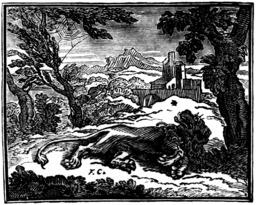 Le lion et le moucheron. Source : http://data.abuledu.org/URI/510c1e55-le-lion-et-le-moucheron