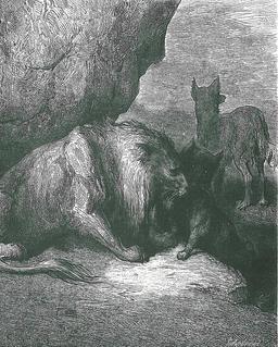 Le Lion, le Loup et le Renard. Source : http://data.abuledu.org/URI/519ceade-le-lion-le-loup-et-le-renard