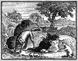 Le loup et l'agneau. Source : http://data.abuledu.org/URI/510c2506-le-loup-et-l-agneau