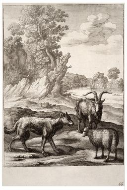 Le loup et l'agneau. Source : http://data.abuledu.org/URI/5193da18-le-loup-et-l-agneau