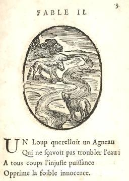 Le loup et l'agneau. Source : http://data.abuledu.org/URI/591626b9-le-loup-et-l-agneau