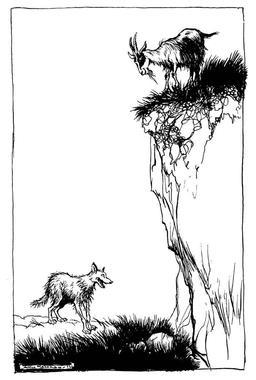 Le loup et la chèvre. Source : http://data.abuledu.org/URI/517d5e2e-le-loup-et-la-chevre