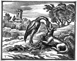 Le loup et la cigogne. Source : http://data.abuledu.org/URI/510c2483-le-loup-et-la-cigogne