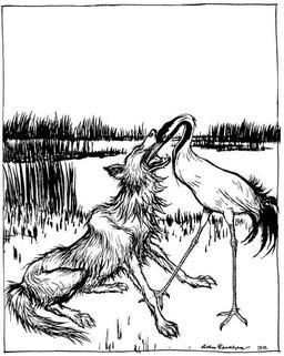 Le loup et la cigogne. Source : http://data.abuledu.org/URI/517d4f2e-le-loup-et-la-cigogne