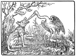 Le loup et la grue. Source : http://data.abuledu.org/URI/5196509d-le-loup-et-la-grue