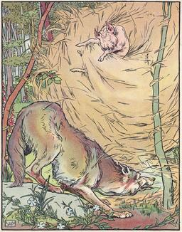 Le loup et la maison de paille. Source : http://data.abuledu.org/URI/534ec272-le-loup-et-la-maison-de-paille