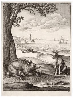 Le loup et la truie. Source : http://data.abuledu.org/URI/5193daba-le-loup-et-la-truie