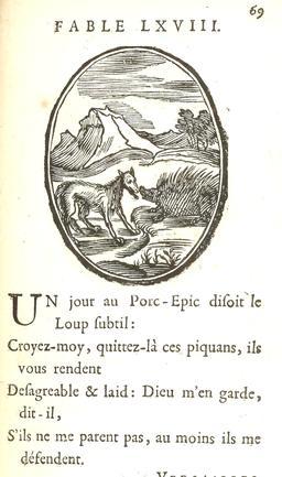 Le loup et le porc-épic. Source : http://data.abuledu.org/URI/59164a0f-le-loup-et-le-porc-epic
