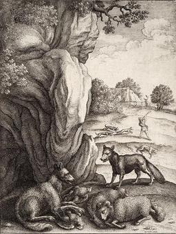 Le loup et le renard. Source : http://data.abuledu.org/URI/5194ad1e-le-loup-et-le-renard