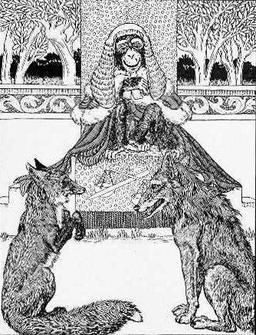 Le loup et le renard jugés par le singe. Source : http://data.abuledu.org/URI/5199ca15-le-loup-et-le-renard-juges-par-le-singe