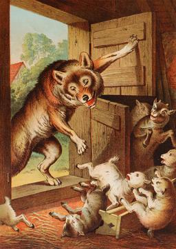 Le conte du loup et des sept chevreaux - 02. Source : http://data.abuledu.org/URI/5406feeb-le-loup-et-les-sept-chevreaux-02