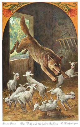 Le loup et les sept chevreaux - 3. Source : http://data.abuledu.org/URI/52bc023a-le-loup-et-les-sept-chevreaux-3