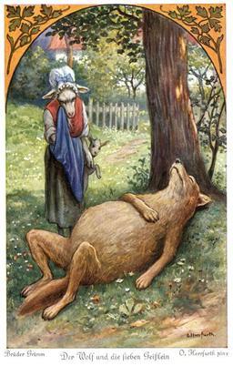 Le loup et les sept chevreaux - 4. Source : http://data.abuledu.org/URI/52bc02bb-le-loup-et-les-sept-chevreaux-4