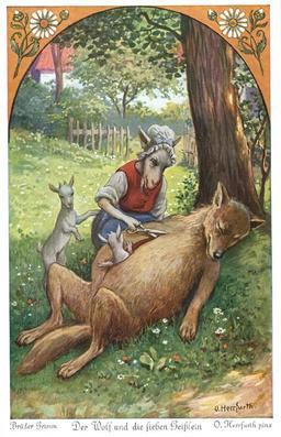 Le loup et les sept chevreaux - 5. Source : http://data.abuledu.org/URI/52bc032f-le-loup-et-les-sept-chevreaux-5