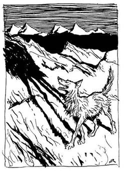 Le loup et son ombre. Source : http://data.abuledu.org/URI/517d6a19-le-loup-et-son-ombre