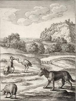 Le loup, l'agneau et la grue. Source : http://data.abuledu.org/URI/5194b18b-le-loup-l-agneau-et-la-grue