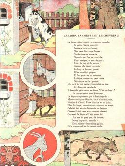 Le loup, la chèvre et le chevreau. Source : http://data.abuledu.org/URI/5197f63d-le-loup-la-chevre-et-le-chevreau