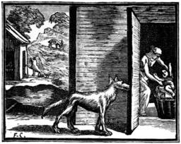 Le loup, la chèvre et le chevreau ; le loup, la mère et l'enfant. Source : http://data.abuledu.org/URI/510c2846-le-loup-la-chevre-et-le-chevreau-le-loup-la-mere-et-l-enfant