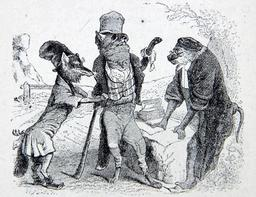 Le loup plaidant contre le renard par-devant le singe. Source : http://data.abuledu.org/URI/51f99142-le-loup-plaidant-contre-le-renard-par-devant-le-singe