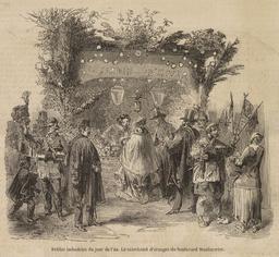 Le marchand d'oranges du boulevard Montmartre en 1855. Source : http://data.abuledu.org/URI/596bf6f3-le-marchand-d-oranges-du-boulevard-montmartre-en-1855