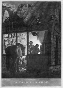 Le maréchal-ferrant. Source : http://data.abuledu.org/URI/5105adf4-le-marechal-ferrant