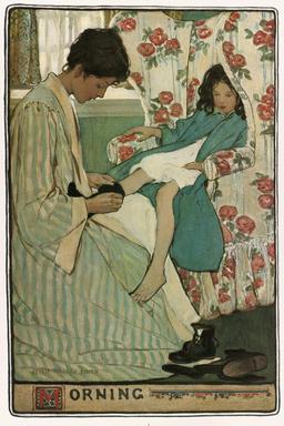 Le matin en famille. Source : http://data.abuledu.org/URI/534469fa-le-matin