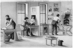 Le métier de lithographe. Source : http://data.abuledu.org/URI/511cc4a1-le-metier-de-lithographe