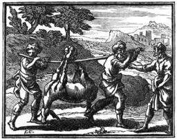Le meunier, son fils et l'âne. Source : http://data.abuledu.org/URI/510c2a91-le-meunier-son-fils-et-l-ane