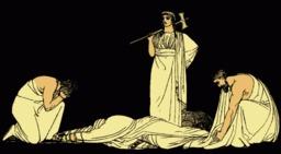 Le meurtre d'Agamemnon. Source : http://data.abuledu.org/URI/50d83ec7-le-meurtre-d-agamemnon