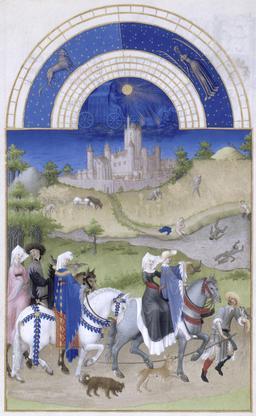 Le mois d'août des Très Riches Heures du Duc de Berry. Source : http://data.abuledu.org/URI/531c570e-le-mois-d-aout-des-tres-riches-heures-du-duc-de-berry