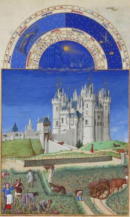 Le mois de septembre dans les Très Riches Heures du Duc de Berry. Source : http://data.abuledu.org/URI/531c5895-le-mois-de-septembre-dans-les-tres-riches-heures-du-duc-de-berry