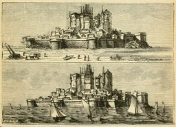Le Mont Saint-Michel à marée haute et à marée basse. Source : http://data.abuledu.org/URI/524de915-le-mont-saint-michel-a-maree-haute-et-a-maree-basse