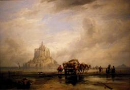 Le Mont Saint-Michel en 1831. Source : http://data.abuledu.org/URI/54a88ca9-le-mont-saint-michel-en-1831