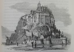 Le Mont-Saint-Michel en 1842. Source : http://data.abuledu.org/URI/54a8966b-le-mont-saint-michel-en-1842