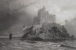 Le Mont-Saint-Michel en 1923. Source : http://data.abuledu.org/URI/54a884c5-le-mont-saint-michel-en-1923