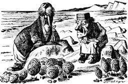 Le morse et le charpentier. Source : http://data.abuledu.org/URI/52b2175e-le-morse-et-le-charpentier