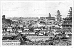 Le palais impérial de Yédo en 1870. Source : http://data.abuledu.org/URI/52b6cbba-le-palais-imperial-de-yedo-en-1870