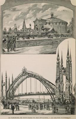 Le panorama de tout-Paris vu des Invalides en 1889. Source : http://data.abuledu.org/URI/58702d6c-le-panorama-de-tout-paris-vu-des-invalides-en-1889