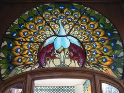 Le paon de vitrail. Source : http://data.abuledu.org/URI/504f9a9d-le-paon-de-vitrail