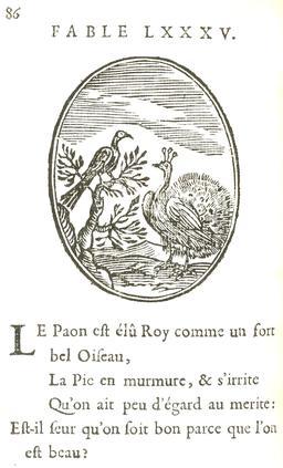 Le paon et la pie. Source : http://data.abuledu.org/URI/5916ba8f-le-paon-et-la-pie
