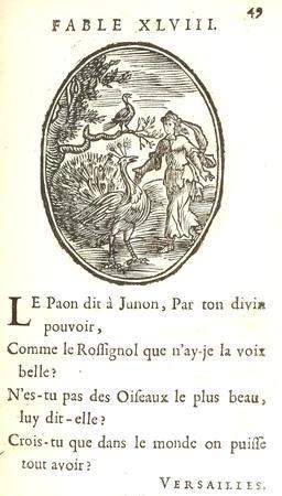 Le paon et le rossignol. Source : http://data.abuledu.org/URI/59164393-le-paon-et-le-rossignol