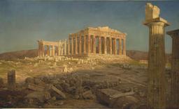 Le Parthénon en 1871. Source : http://data.abuledu.org/URI/54a1ab48-le-parthenon-en-1871
