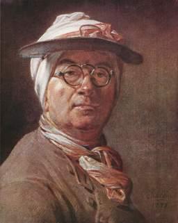Le peintre Chardin avec des lunettes. Source : http://data.abuledu.org/URI/50204d2f-le-peintre-chardin-avec-des-lunettes