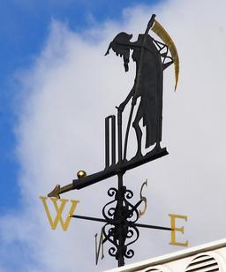 Le père du temps, girouette londonienne. Source : http://data.abuledu.org/URI/50d61e41-le-pere-du-temps-girouette-londonienne