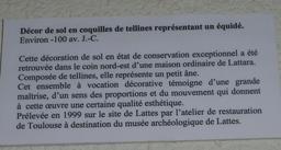 Le petit âne en coquillages de Lattara à Lattes. Source : http://data.abuledu.org/URI/58d4c09c-le-petit-ane-en-coquillages-de-lattara-a-lattes