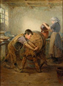 Le petit batteur de beurre en 1897. Source : http://data.abuledu.org/URI/58cb2c66-le-petit-batteur-de-beurre-en-1897
