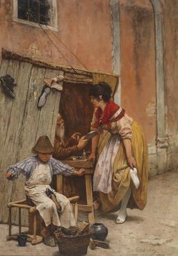 Le petit cordonnier en 1880. Source : http://data.abuledu.org/URI/58cae3c4-le-petit-cordonnier-en-1880